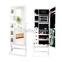 Living Room Top Selling Wooden Photo Frame Jewelry Cabinet with Mirror
