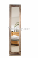 NEW Floor Standing Solid Wood Jewelry Cabinet with Dressing Mirror