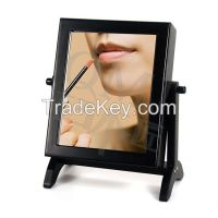 Wood Small Jewelry Cabinet Storage with Free Standing Mirror