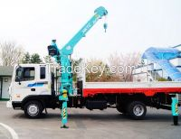 Telescopic truck-mounted crane