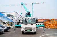 Telescopic truck-mounted crane
