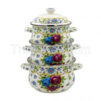 HIGH QUALITY ENAMEL CASSEROLE WITH  DECAL