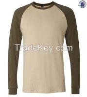 Plain Contrast Colors Basic Baseball Long Sleeve Tee Shirts  3170209