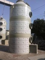 Exhaust gas treating tower