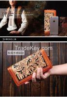 2015 New fashion Women clutch wallet & 100% genuine leather