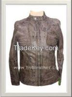 Men's Biker Leather Jacket Style M-122015