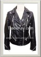 Women's Moto Leather Jacket Style F-12581A