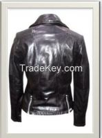 Women's Moto Leather Jacket Style F-12581A