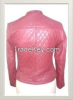 Women's preppy biker Leather Jacket Style F-12589