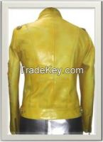 Women's Biker Leather Jacket Style F-12263