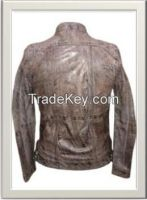 Men's Biker Leather Jacket Style M-122015