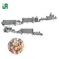 Puffed Breakfast Cereals Corn Flakes Processing Line Machine