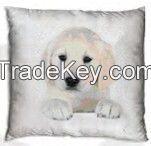 Cushion with dog design
