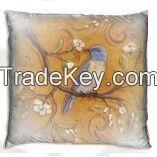 Pillow with bird design