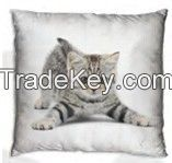 Cushion with cat design