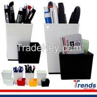 connected office plastic stationery holder, plastic pen holder