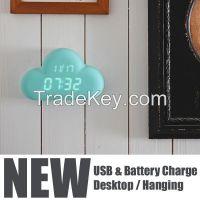 new items 2015 cloud mini digital clock, small digital clock