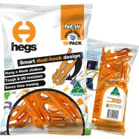 HEGS - Patented, AWARD-WINNING, High Quality, Australian Made, Dual Hook Clothes Pegs