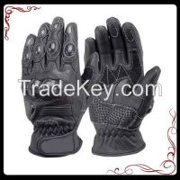 Motorcycle short leather gloves
