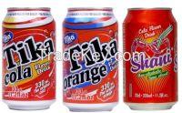 Cola soda, Orange soda, Apple soda