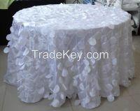 taffeta petals wedding tablecloth