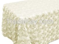 Rosette Satin Table Cloth/Luxury embroidere tablecloth