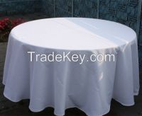 wholesale cheap polyester table cloth with table runner