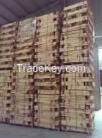 Sawn timber rubber wood