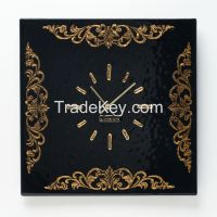 Wall clock made of glass with the addition of gold S-Interiors Ricco S