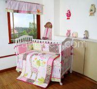 Patchwork giraffe crib european baby bedding