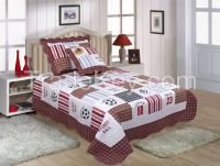 Cotton Patchwork Quilted Bedspread Set