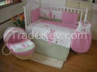 baby bedding embroidery rabbit  beddingset