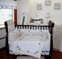 odm baby bedding sets wooden crib