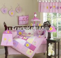 new style pretty flowers baby bedding set yellow baby bedding sets