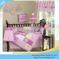 Printed Cot Crib Baby Bedding Set in China winter bed quilt