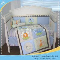 luxury cartoon baby bedding set wooden kids bed
