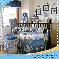 European Style Cotton Crib Baby Bedding Set wooden baby cot
