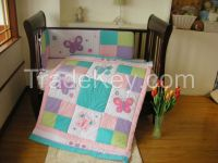 made in china baby bedding set woven cotton bedspreads plain
