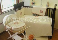 Cotton Embroidery Baby Bedding Set yellow duvet cover sets