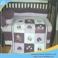 fashion baby bedding set woven wedding comforter set