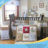 hot selling baby bedding set yellow baby bedding