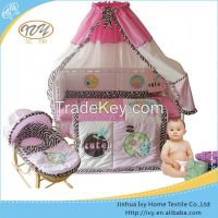 Professional manufacturer baby bedding sets yellow green bedding