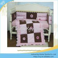 promotion baby bedding set yellow crib bedding sets