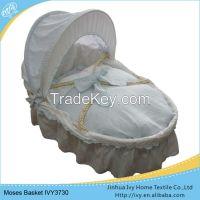 High quanlity wicker baby basket set travel basket liner set