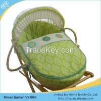 High quanlity wicker baby basket set white basket