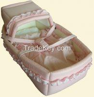 ODM baby basket set wood moses basket stand