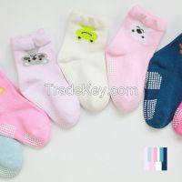 unti-slip animal baby socks baby 100% cotton socks