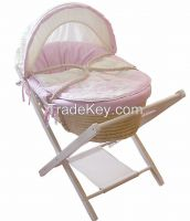 cheapest price baby basket set wooden stand