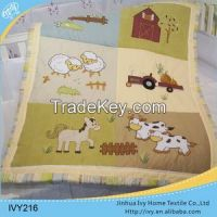 Custom Floral Print baby quilt wholesale african fashion set