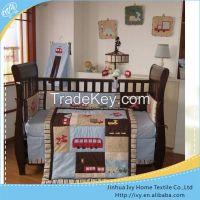 blue start 100% cotton cot bedding set for baby boy